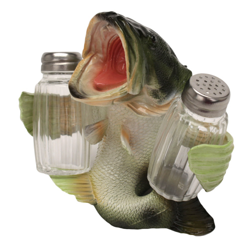 Rivers Edge Products Salt and Pepper Shaker Bass