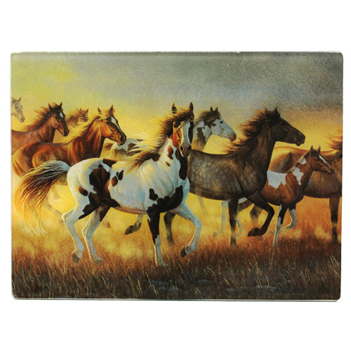Rivers Edge Products Cutting Board Running Horses