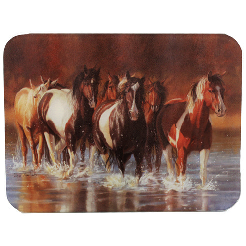 Rivers Edge Products Rivers Edge Products Cutting Board Horse, Rush Hour 730