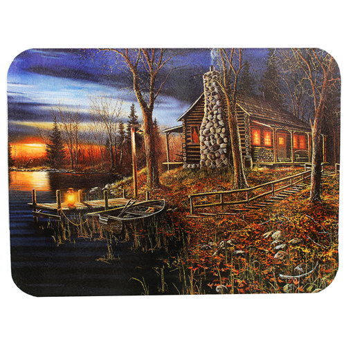 Rivers Edge Products Rivers Edge Products Cutting Board Cabin Scene 746