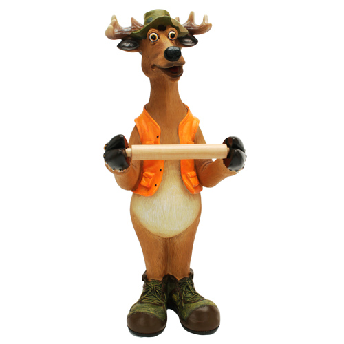 Rivers Edge Products Toilet Paper Holder Standing Deer