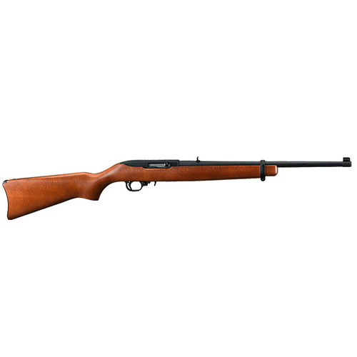 "Rifle Ruger 10/22 RB 22 Long Rifle 18.5"" Hardwood/Blued 10 Round 1103"