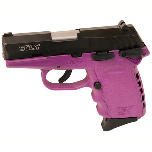 SCCY Pistol SCCY CPX-1 9mm Luger DAO withSafety Blk/Purple 10rd CPX-1 CBPU