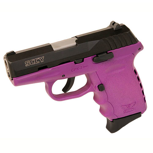 SCCY Pistol SCCY CPX-2 9mm Luger DAO witho Safety Blk/Purple 10rd CPX-2 CBPU