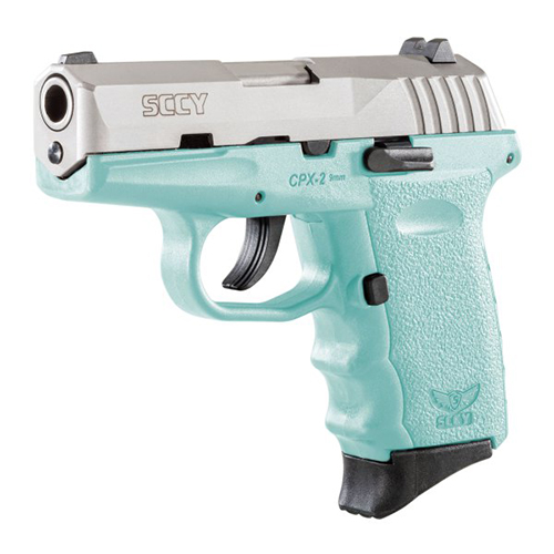 SCCY SCCY CPX-2 Pistol 9mm SS/RE Blue No Safety 10 Rounds