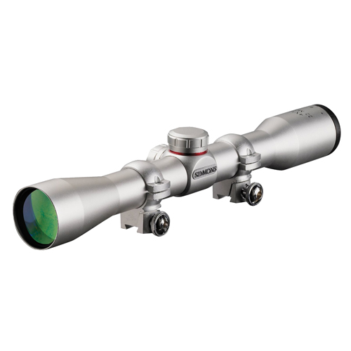 Simmons Simmons .22 Mag Series Riflescope 4x32 Silver, Truplex with Scope Rings 511033