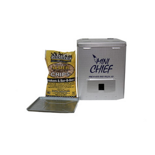 Smokehouse Product Smokehouse Product Mini Chief Smoker 15lb Capacity 250W Silver 9801-000-0000