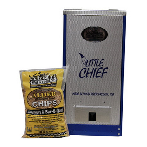 Smokehouse Product Smokehouse Product Little Chief 250W Front Load 25lb Capacity, Blue 9900-000-BLUE