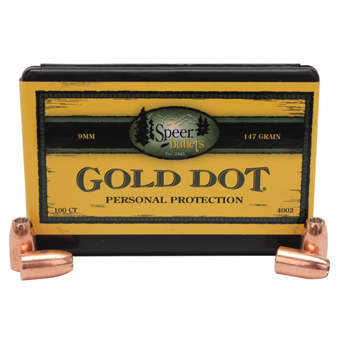 Speer 9mm (Per 100) 147 Gr GD HP
