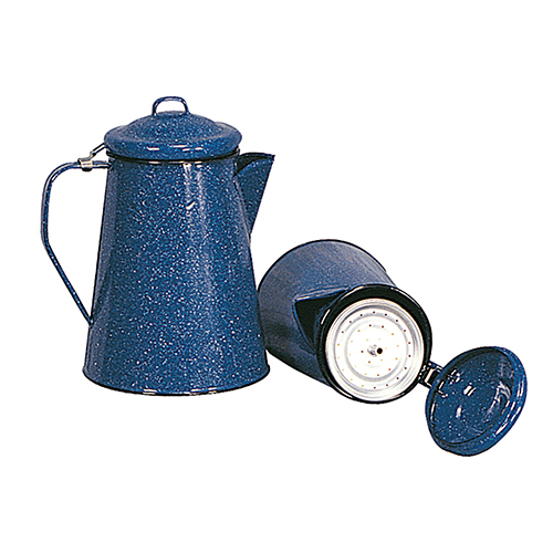 Stansport Stansport Enamel Coffee Pot, 12 Cup, with Perculator 10346