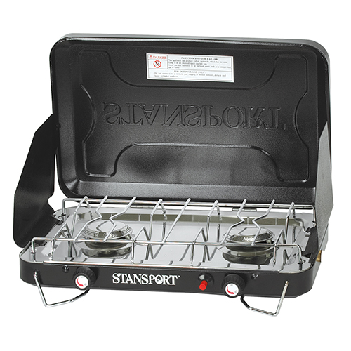 Stansport Stansport Two Burner Piezo Stove with Drip Pan 203-100