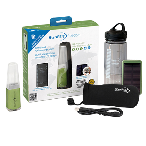 SteriPEN Freedom Solar Bundle USB Rechargeable