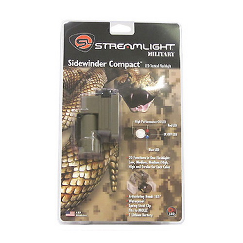 Streamlight Streamlight Sidewinder Compact Green w/Mount, Battery, IR/IFF LED 14103