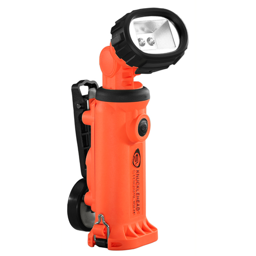 Streamlight Knucklehead Light w/Clip, Batteries, Orange, Clam Pack