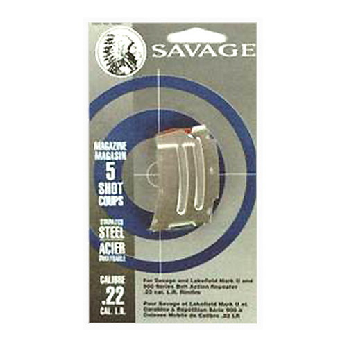 Savage Arms Savage Arms Magazine Box MKII/900, 5-Shot, 22 LR/17 Mach2, Stainless Steel 90007
