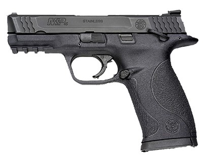 Smith & Wesson Pistol Smith & Wesson M&P45 45 ACP Ambidextrous Manual Safety, Black 10 Round 109107