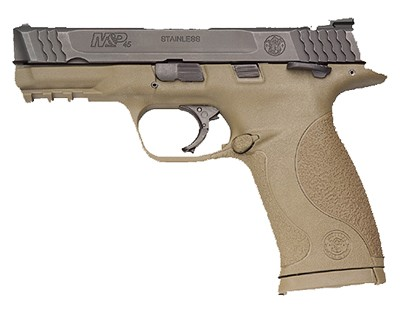 Smith & Wesson Pistol Smith & Wesson M&P45 45 ACP Ambidextrous Manual Safety, Flat Dark Earth 10 Round 109157