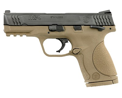 Smith & Wesson Pistol Smith & Wesson M&P45 45 ACP Compact, Safety, Flat Dark Earth 8 Round 109158