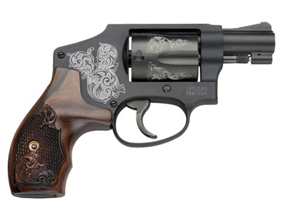 Smith & Wesson Revolver Smith & Wesson M442 Centinniel Airweight, 38 Special, Engraved 5 Round 150785