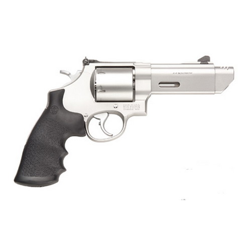 Smith & Wesson Revolver Smith & Wesson M627 V-COMP 44 Mag Rubber/Stainless Steel 6 Round 170137
