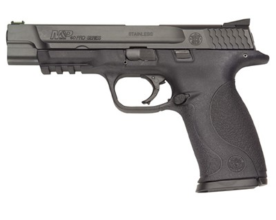 Smith & Wesson Pistol Smith & Wesson M&P40 40 S&W Pro Fiber Optic Sights 4.5lb Trigger 15 Round 178032
