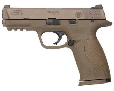 Smith & Wesson Pistol Smith & Wesson M&P40 40 S&W VTAC Night Sights Flat Dark Earth 15 Round 209920