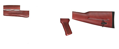 Tapco ak 47 romanian wood furniture set red Ak 47 wooden furniture
