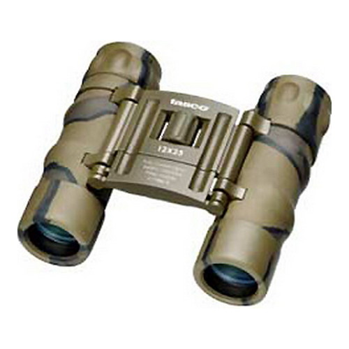 Tasco Essentials Binoculars 12x25mm, Brown/Camo