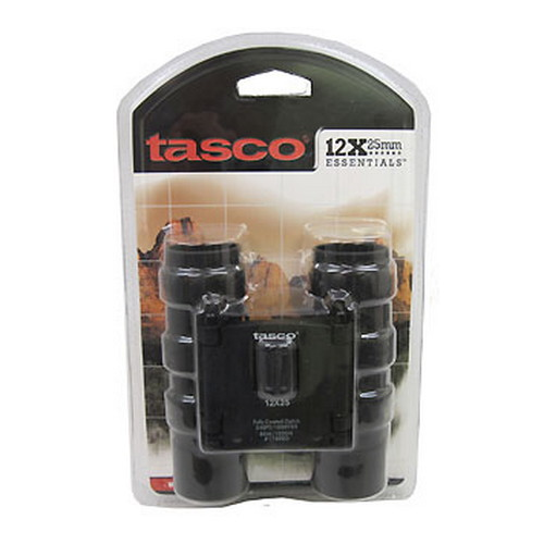 Tasco Tasco Essentials Binoculars 12x25mm, Black, Roof Prism 178RBD