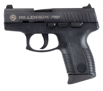 "Pistol Taurus PT132 Millenium Pro .32 ACP 32ACP, 3 1/4"" Barrel, 10+1 Round, Adjsutable Sight, (Blued) 1132031P"