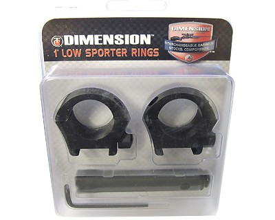 Thompson/Center Arms Scope Rings Low, Aluminum, Fits:  Dimension