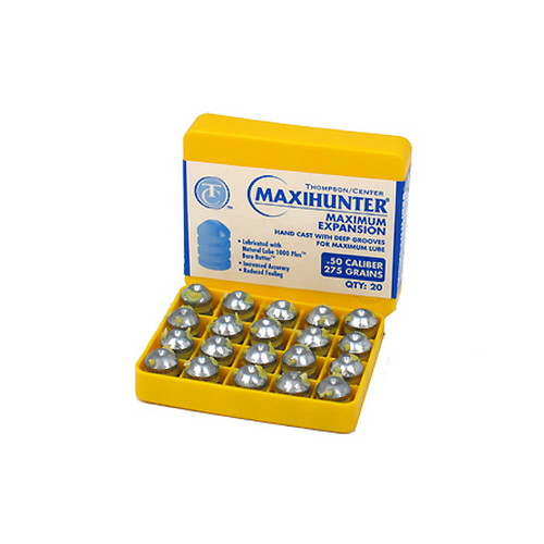 Thompson/Center Arms Maxi-Hunter Prelubricated Bullets .50 Caliber 275Gr (per 20)
