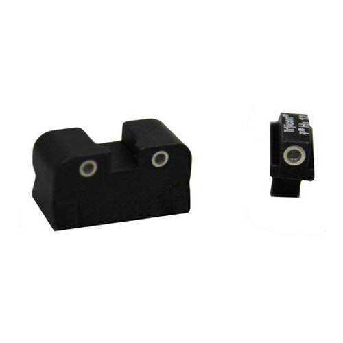 Trijicon Trijicon Colt Government 3 Dot Front & Rear Night Sight Set, .125 Tang CA01