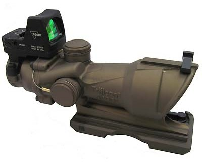 Trijicon Trijicon ACOG 4x32 Illuminated Amber Reticle 223 4.0 Minutes Of Angle, Brown TA01-ECOS