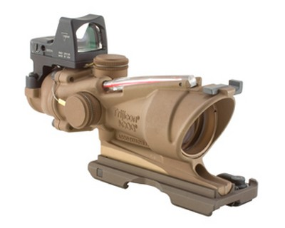 Trijicon Trijicon ACOG 4x32 Illumated Red X-Reticle 223 4 Minutes Of Angle, Brown TA31-ECOS