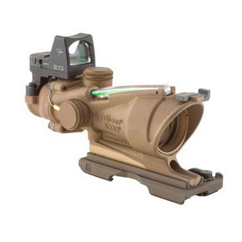 Trijicon Trijicon ACOG 4x32 Illuminated Green X 223 4 Minutes Of Angle, Brown TA31-ECOS-G
