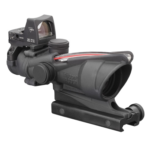Trijicon Trijicon ACOG Illumated Red Chevron Reticle .223 4.0 Minutes Of Angle TA31F-RMR