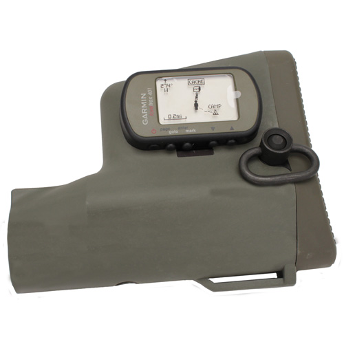 Troy Industries Troy Industries GPS NAV Stock Olive Drab, with GPS SBUT-GPS-00GT-00
