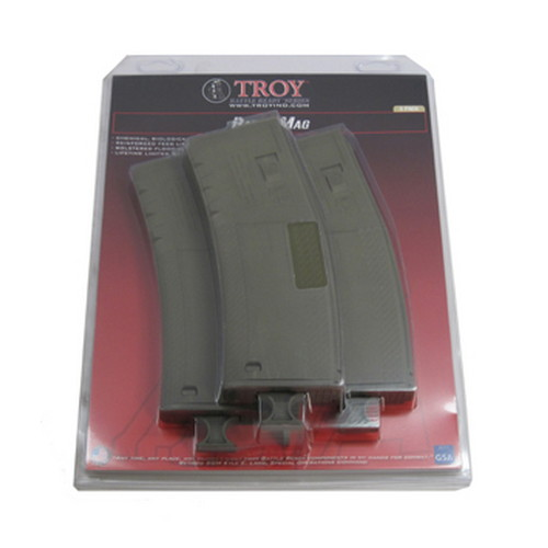 Troy Industries Troy Industries Battlemag 30 Round- 3 Pack Olive Drab SMAG-3PK-00GT-00