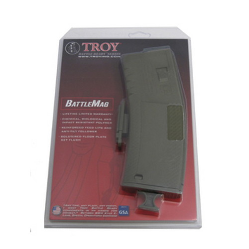 Troy Industries Troy Industries Battlemag 30 Round- Single Olive Drab SMAG-SIN-00GT-00