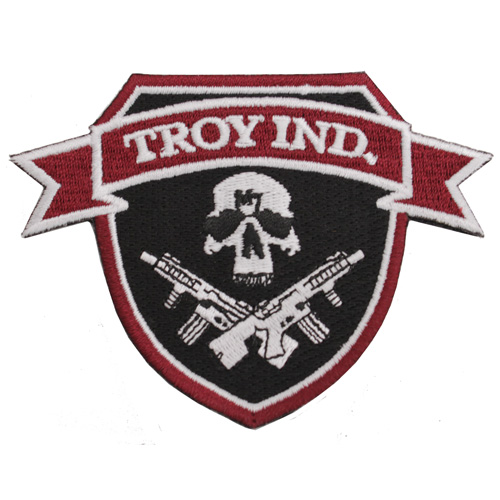 Troy Industries Troy Industries Patch Jolly Roger, Red/Black SPAT-PAT-000T-04