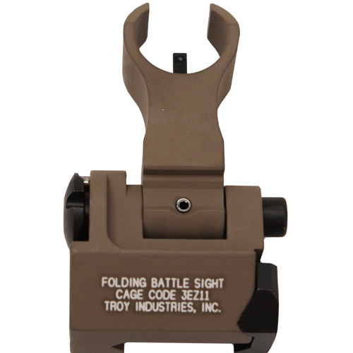 Troy Industries Troy Industries Front HK Style Sight Folding, Tritium, Flat Dark Earth SSIG-FBS-FHFT-02