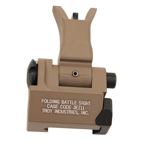 Troy Industries Troy Industries Front Folding Style M4 Sight Flat Dark Earth, Tritium SSIG-FBS-FMFT-01