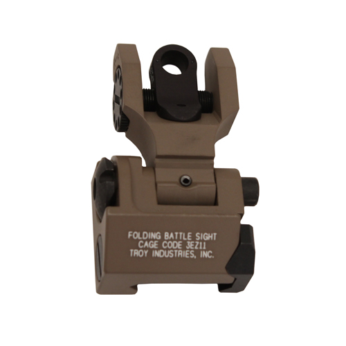 Troy Industries Troy Industries Rear Battle Sight Flat Dark Earth, Tritium, Folding SSIG-FBS-RTFT-00