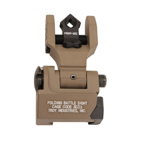 Troy Industries Troy Industries DOA Rear Sight Flat Dark Earth, Folding, Tritium SSIG-FBS-TTFT-00