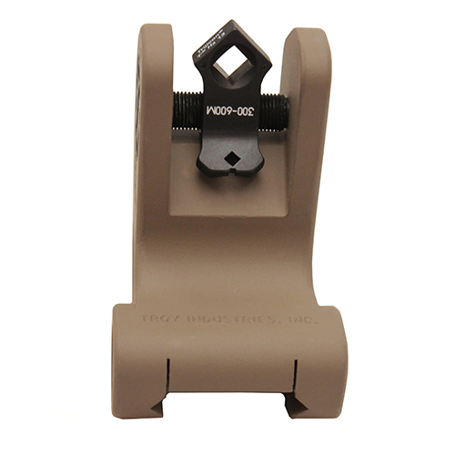 Troy Industries DOA Rear Sight Flat Dark Earth, Fixed, Tritium