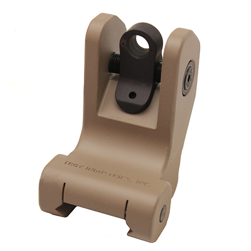 Troy Industries Rear Battle Sight Flat Dark Earth, Tritium, Fixed