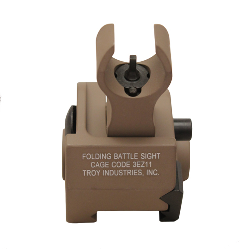 Troy Industries Troy Industries Front HK Gas Block Sight Flat Dark Earth, Folding SSIG-GBF-00FT-00