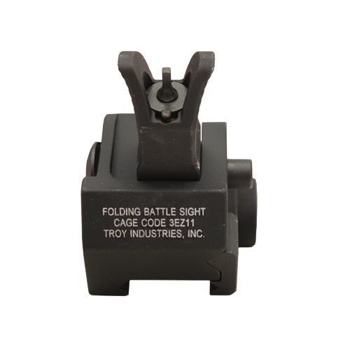 Troy Industries Troy Industries Front M4 Gas Block Sight Black, Folding SSIG-GBF-0MBT-00