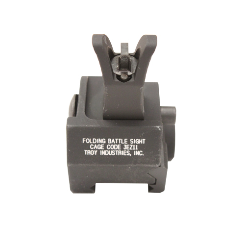 Troy Industries Troy Industries Front M4 Gas Block Sight Black, Tritium, Folding SSIG-GBF-0MBT-01
